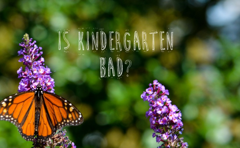 Is Kindergarten Really a Prison for Some Kids?